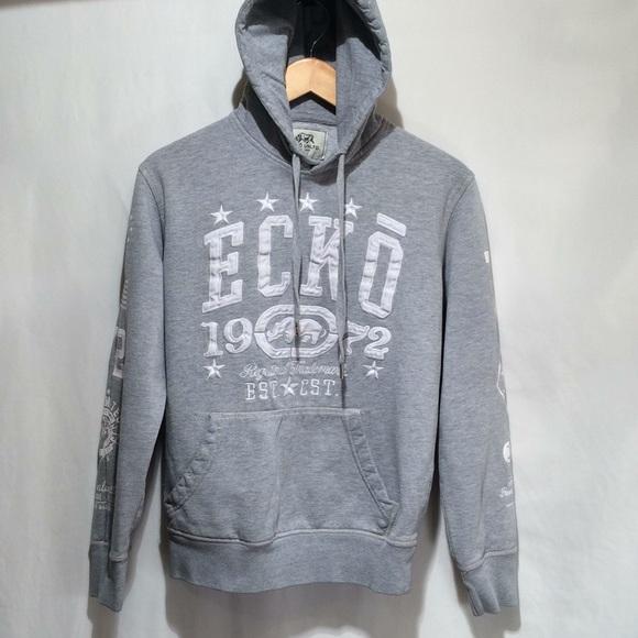 Ecko Unlimited Other - Ecko UNLTD men's S Gray graphic  hoodie (568)